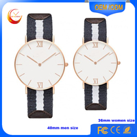 Leather watch bands men's wristwatches lady hand watch