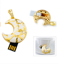 shenzhen wholesale factory price moon-shape usb drive usb flash drive memory card