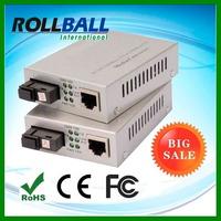 China manufacturer AC 220V/ DC 48V simplex single mode MTRJ 10/100/1000 media converter for ip camera