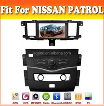Touch sreen car dvd player with GPS navigation fit for Patrol 2014 with audio radio bluetooth ipod tv and two panel