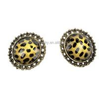 women's Fashion Leopard grain round earring
