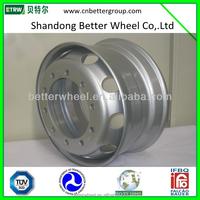 Truck Trailer Bus Steel Material Tubeless Wheel Rim/steel trailer wheel /tractor trailer wheel rims