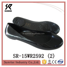 clear black transparent shoes plastic shoe pvc jelly shoes for south africa