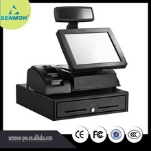 """15"""" 5-wire POS Touch Screen Machine All in One Retail Store Pos System Touch Cash Register with Thermal printer+scannner SM-380A"""
