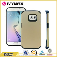 Golden phone case for samsung galaxy s6 edge phone accessories