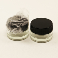 In stock hash oil container glass jar containers for dab wax vaporizer oil concentrate containers clear bho jar
