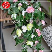 140410 canton fair 2015 best selling product wall hanging artificial flowers rose plants wholesale
