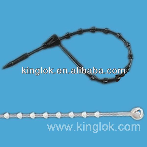 locking beaded cable tie lbt11 100 beaded loop tie