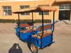 2015 blue color For electric passenger auto rickshaw for india market