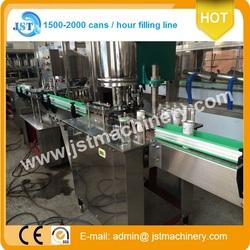 2000CPH juice tinplate can filler sealer SS304