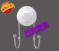 double metal /plastic hook with suction cup