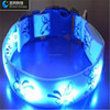 New Design Blue Double Sided Flashing Led Dog Collar