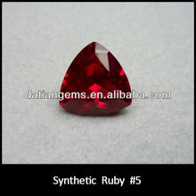 Unbelievable!!!! Good quality beautiful color trillion cut ruby is hot selling