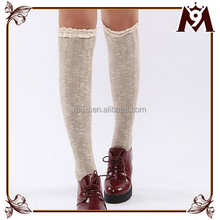 2015 newest Japanese style plain color lace leg warmers for girls