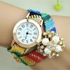 2015 New design leather wrap pearl watch women wholesale china!! Hot sale quartz crystal watch women bracelet watch