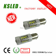 Hid replacement 1157 led aotu light 9-30V 1156 80w led trailer stop turn 12v/24v BAY15D 1157 IP67 CE ROHS 2 years