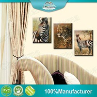 Decorative 3D Canvas Painting Polyester Oil Frameless Animal Paints