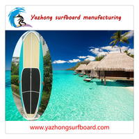 Water entertainment flat tail bamboo surfboard for sale