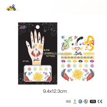 children colorful tatoo sticker, fashionable hand jewelry fro girls, lovely tatoo sticker