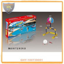 Water mini basketball stands for kids with plastic hoop