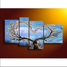2015 New and Hot Old Master 100% Hand Painted Modern Group Abstract Tree Oil Painting on Canvas