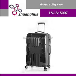 Hard pc trolley case, abs luggage and suitcase with TSA
