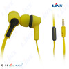 New fashion wired in-ear headphone colour headphone wired ear buds