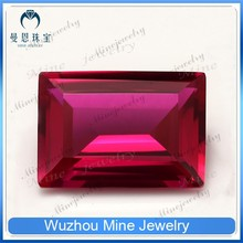 Rectangle #5 Red Ruby Stone /Red Ruby Price/Synthetic Corundum Gems