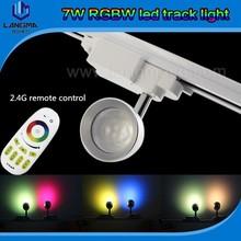 led track light cloth track light led project 2 pin energy saving rotatable RGBW muti-color track light