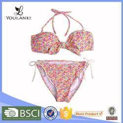 Top Selling Cultivate Pull On Floral Pattern Bikini Girl Swimwear High Quality Xxx Sex China Extreme