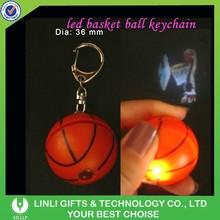 Personalized key ring basketball