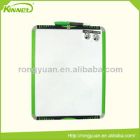 High selling metal green frame portable custom size decorative fridge magnetic whiteboard
