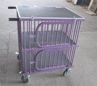 dog trolley, dog cage,pet dog show trolley MOQ 1pc