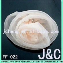pink fabric handmade silk flower