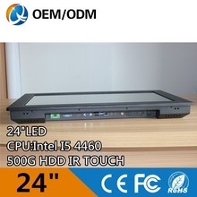 latest computer models 24 inch embedded low-power cpu win ce system industrial panel pc price