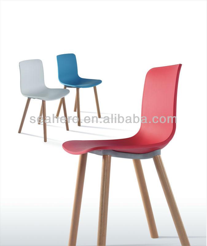 Moderne chaise salle manger meubles en bois en plastique color chaises de - Chaises salle a manger bois ...