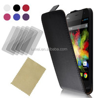 100% Geniune Real Flip Leather Scratch Proof Phone Case Cover For Wiko Boom