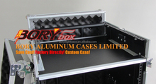 FZGS1316WDLX Flight Zone Glide Style Ata Combo Rack With Wheels And Side Table: 13u Top Slant, 16u Vertical