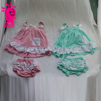 lovely baby 2 pieces rompers clothing sets with baby bloomer newborn baby clothing set