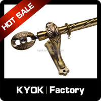 KYOK double curtain rods wholesale & curtain rod accessories factory , beaded curtain poles