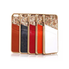 LUXURY High-grade Leather back hard cover for iphone6 with card slots