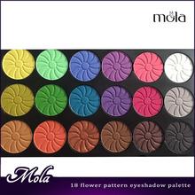 18 color flower pattern palettes eye makeup eyeshadow eyeshadow makeup palette