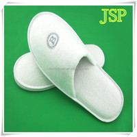 2015 New High Quality velour White Disposable Hotel Bathroom Slippers