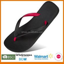 New design 2015 basic two tone pvc strap unisex summer promot flip flop