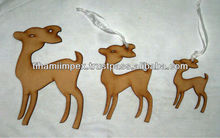 Deer Shaped Wooden Christmas Hangings