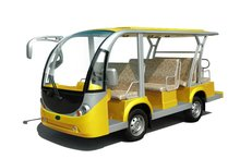 11 seaterfashionable electric sightseeing car EG6118KA, 72V 5KW, auotmatic drive system, hydraulic brake, with rear seat