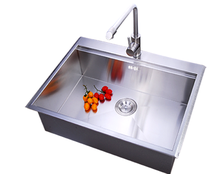 topmount handmade single bowl 304 stainless steel kitchen sink for sale
