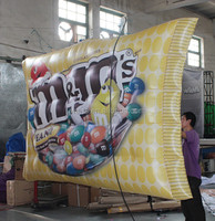 2015 Hot-selling cheap inflatable screen for advertising / inflatable candy cane