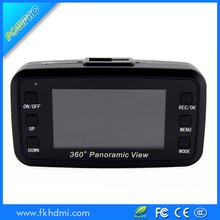 2.7inch TFT screen dual camera car dvr 360 degree dash camera