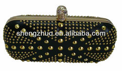Hard Case Skull Ring Clutch Bags